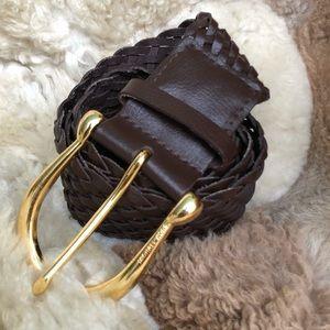 💜 Michael Kors Chocolate Brown Wide Belt